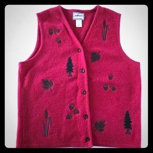 5/$20 Pendleton Fall/Winter theme red vest wool